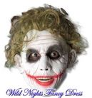 FANCY DRESS ~ DLX LATEX DARK KNIGHT BATMAN JOKER MASK